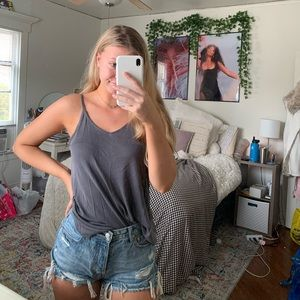 maurices basic gray tank top